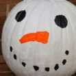 Pumpkin Turned Frosty Snowman