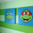 Ninja Turtle Room Makeover